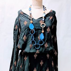 Loose boho shift dress